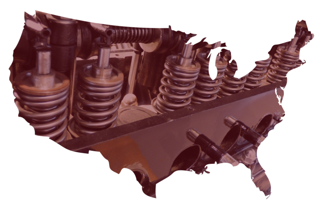 US Auto Parts Graphical Map